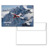 6 1/4 x 4 5/8 Flat Cards w/Blank Envelopes 10/pkg-PC-6 Over Snowy Cliff