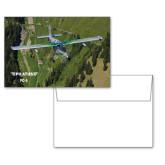 6 1/4 x 4 5/8 Flat Cards w/Blank Envelopes 10/pkg-PC-6 Over Green Terrain