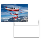 6 1/4 x 4 5/8 Flat Cards w/Blank Envelopes 10/pkg-PC-7 MKII 3 Aircrafts