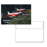 6 1/4 x 4 5/8 Flat Cards w/Blank Envelopes 10/pkg-PC-7 MKII 2 Aircrafts Over Green Terrain