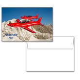 6 1/4 x 4 5/8 Flat Cards w/Blank Envelopes 10/pkg-PC-21 2 Aircrafts Over Snow Cliffs