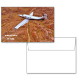 6 1/4 x 4 5/8 Flat Cards w/Blank Envelopes 10/pkg-PC-12 NG Over Brown Fold Mtns
