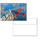 6 1/4 x 4 5/8 Flat Cards w/Blank Envelopes 10/pkg-PC-21 City Bridge View