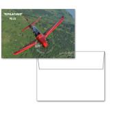 6 1/4 x 4 5/8 Flat Cards w/Blank Envelopes 10/pkg-PC-21 Green Terrain