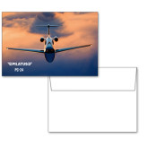 6 1/4 x 4 5/8 Flat Cards w/Blank Envelopes 10/pkg-PC-24 Sunset On Clouds