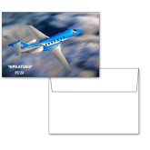 6 1/4 x 4 5/8 Flat Cards w/Blank Envelopes 10/pkg-PC-24 On Top of Clouds