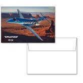 6 1/4 x 4 5/8 Flat Cards w/Blank Envelopes 10/pkg-PC-24 Rough Block Mtns