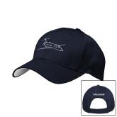Navy Mesh w/White Sandwich Structured Hat-PC-24 Wispy