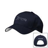 Navy Mesh w/White Sandwich Structured Hat-