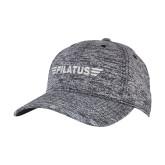 PosiCharge Black/White Electric Heather Snapback Hat-