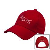 Red Heavyweight Twill Pro Style Hat-PC-24 Wispy