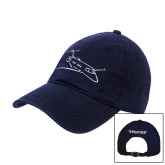 Navy Twill Unstructured Low Profile Hat-PC-24 Wispy