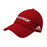 Adidas Red Slouch Unstructured Low Profile Hat-