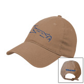 Khaki Twill Unstructured Low Profile Hat-