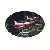 Small Magnet-PC-7 MKII 2 Aircrafts Over Green Terrain