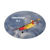 Medium Magnet-PC-6 Over Snowy Mountains