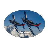 Medium Magnet-PC-7 MKIIs over Snow Cliffs
