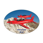 Medium Magnet-PC-21 2 Aircrafts Over Snow Cliffs