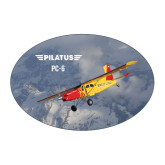 Large Magnet-PC-6 Over Snowy Mountains