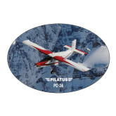 Large Magnet-PC-6 Over Snowy Cliff