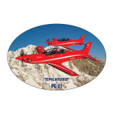 Large Magnet-PC-21 2 Aircrafts Over Snow Cliffs