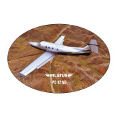 Large Magnet-PC-12 NG Over Brown Fold Mtns