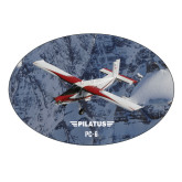 Extra Large Magnet-PC-6 Over Snowy Cliff
