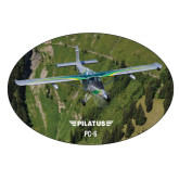 Extra Large Magnet-PC-6 Over Green Terrain