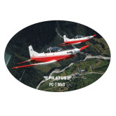 Extra Large Magnet-PC-7 MKII 2 Aircrafts Over Green Terrain