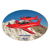 Extra Large Magnet-PC-21 2 Aircrafts Over Snow Cliffs