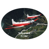 Super Large Magnet-PC-7 MKII 2 Aircrafts Over Green Terrain