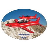 Super Large Magnet-PC-21 2 Aircrafts Over Snow Cliffs