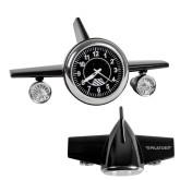 Black Metal Airplane Clock-Engraved