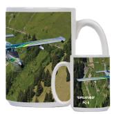 Full Color White Mug 15oz-PC-6 Over Green Terrain