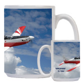 Full Color White Mug 15oz-PC-7 MKII Over Clouds
