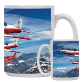 Full Color White Mug 15oz-PC-7 MKII 3 Aircrafts