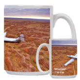 Full Color White Mug 15oz-PC-12 NG Over Brown Fold Mtns