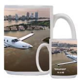 Full Color White Mug 15oz-PC-12 NG City Lake View