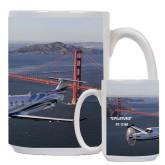Full Color White Mug 15oz-PC-12 NG Bridge View