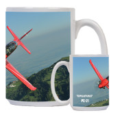 Full Color White Mug 15oz-PC-21 Mountain Shore