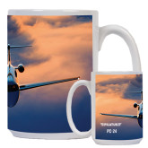 Full Color White Mug 15oz-PC-24 Sunset On Clouds