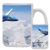 Full Color White Mug 15oz-PC-24 Over Snowy Mtns
