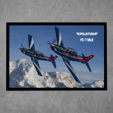 Full Color Indoor Floor Mat-PC-7 MKIIs over Snow Cliffs