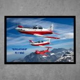 Full Color Indoor Floor Mat-PC-7 MKII 3 Aircrafts