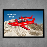Full Color Indoor Floor Mat-PC-21 2 Aircrafts Over Snow Cliffs