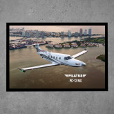 Full Color Indoor Floor Mat-PC-12 NG City Lake View