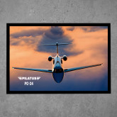 Full Color Indoor Floor Mat-PC-24 Sunset On Clouds