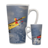 Full Color Latte Mug 17oz-PC-6 Over Snowy Mountains