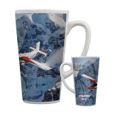 Full Color Latte Mug 17oz-PC-6 Over Snowy Cliff