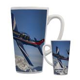 Full Color Latte Mug 17oz-PC-7 MKIIs over Snow Cliffs